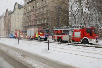 Die Feuerwehr konnte den Brand im leerstehenden Gebäude an der Bernsdorfer Straße löschen.