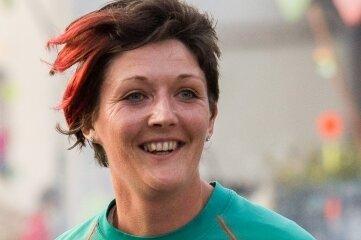 Andrea Uhlig, hier 2018 als Läuferin auf der Strecke.