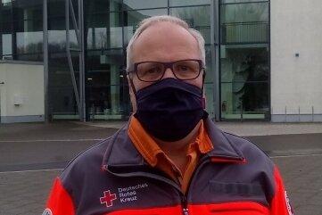 Ralf Gräser führte beim Umbau der Stadthalle in ein Impfzentrum Regie. Foto: Uwe Mühlhausen