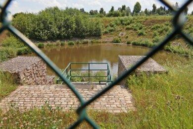 Das Regenbecken am A-72-Zubringer wird größer. Dadurch sollen Wassermassen nicht mehr unkontrolliert nach Reinsdorf gelangen.