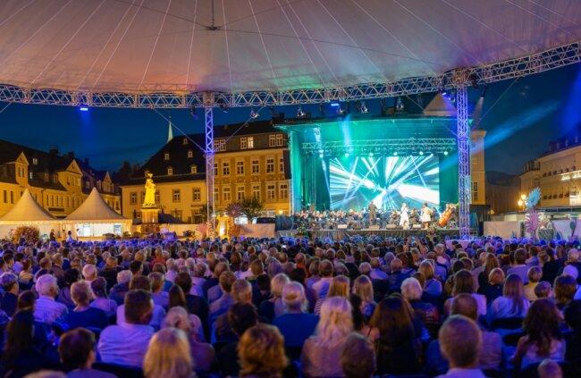 2019 war beinahe der gesamte Marktplatz von Annaberg ein Festsaal. So und noch größer soll es 2023 wieder werden.