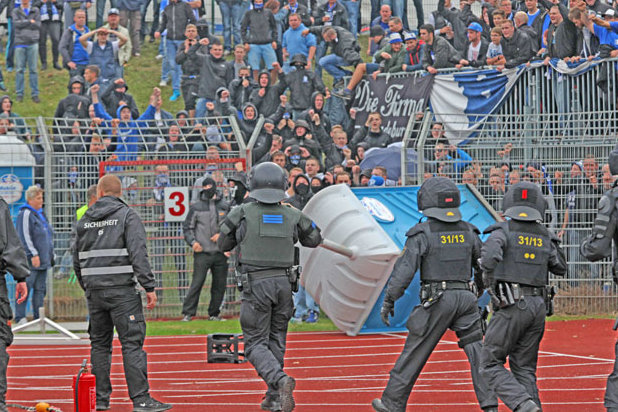 Zwickau gewinnt gegen Magdeburg - Spielunterbrechung nach Randalen