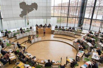 Sachsens Landtag.