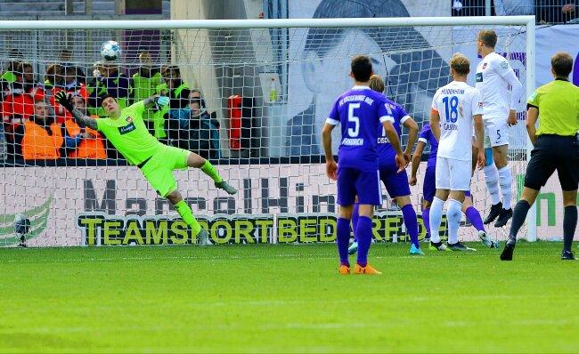 1:0 für Aue. Das Tor des Tages schoss Philipp Riese.