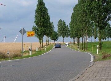 Der Hofgraben am Ortsausgang von Hohndorf.
