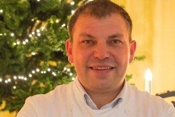 Stollenbäcker Michael Weisbach, Obermeister der Bäckerinnung Annaberg-Zschopau