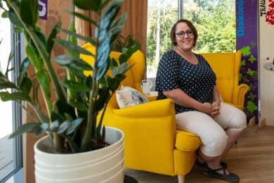 """Hospizhelferin und Trauertherapeutin Anne Riedel-Seim baut die Jugendtrauergruppe """"Leuchtfeuer"""" auf."""