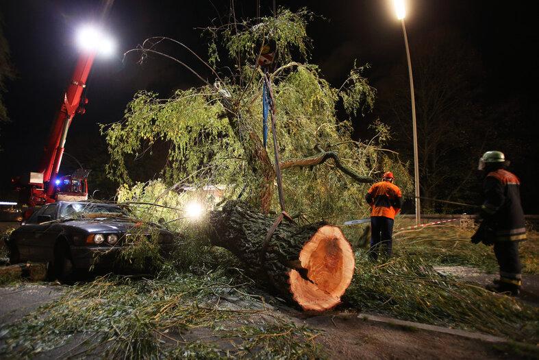 Im Herbst hielten die Orkane «Christian» und «Xaver» die Rettungskräfte auf Trab.