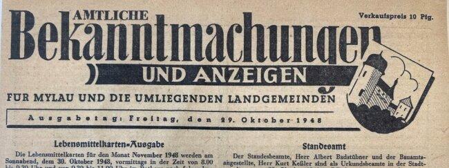 Überrest großmütterlicher Leidenschaft für Fortsetzungs-Romane: Nach diesem amtlichen Dokument hatte Autor Günter Hofmann lange vergeblich gesucht.