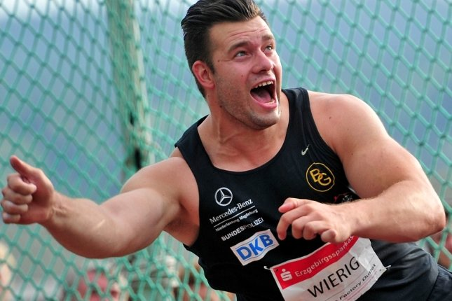 Der WM-Vierte Martin Wierig vom SC Magdeburg dominierte den Diskuswettbewerb. Bei schwierigen Windbedingungen kam er auf 64,47 Metern.