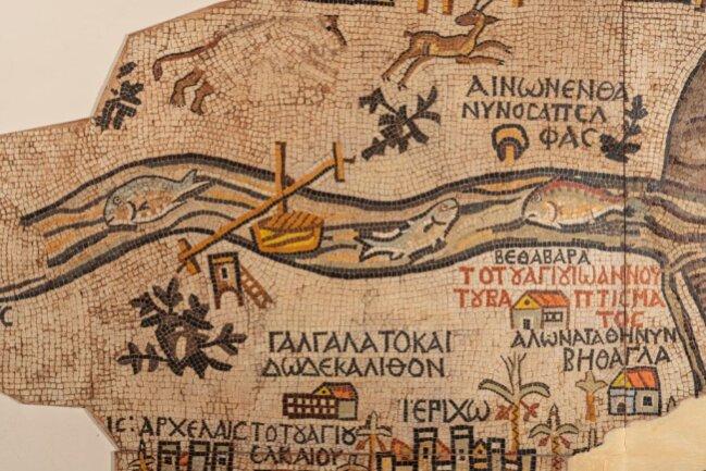 Ausschnitt der Madabakarte.
