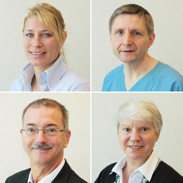 Die Experten: Dr. Uta Fleischer und Dr. Axel Müller (oben); Dr. Ursula Walter und Dr. Klaus Kleinertz (unten).