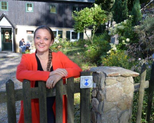 Rückzugsort zwischen arbeitsreichen Wochen im Filmgeschäft: Sophie Cocco auf dem elterlichen Grundstück im Hofefeld bei Frauenstein.