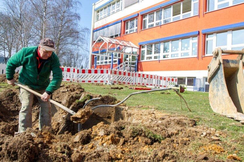 An Jößnitzer Grundschule starten die ersten Bauarbeiten