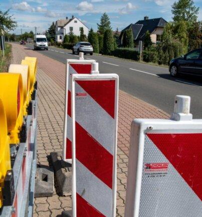 Die B 175 wird ab der kommenden Woche gebaut. Die Straße wird bis zum Ortseingang in Richtung Rochlitz gesperrt.