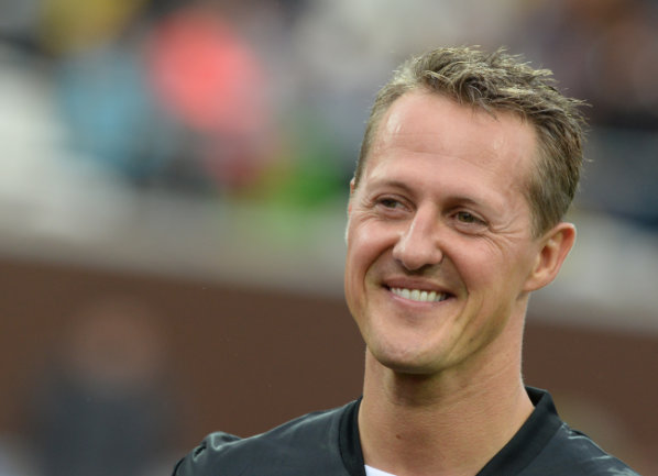 Michael Schumacher bei einem öffentlichen Auftritt im Hamburg im September 2013.