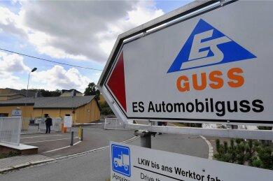 Blick auf das Werksgelände des Zulieferers ES Automobilguss in Schönheide.