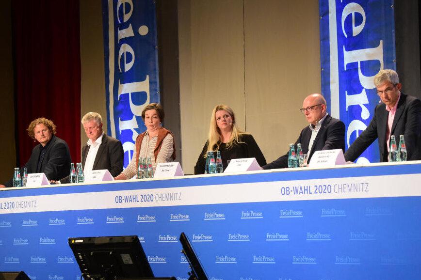 Das Chemnitzer OB-Wahl-Forum: Kurz und bündig