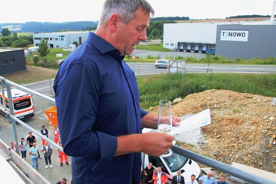 Für den Richtspruch war Frank Faustmann (Foto) von der bauausführenden Firma zuständig.