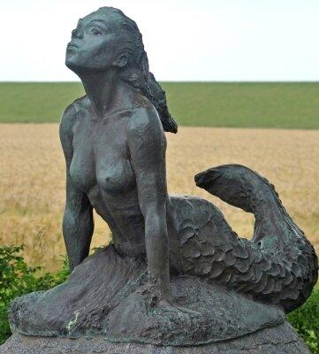 Seewiefken nennen die Einheimischen ihre bronzene Meerjungfrau.