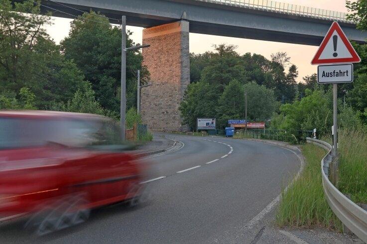Ab der Autobahnbrücke in Wilkau-Haßlau soll die S 277 bis nach Kirchberg ausgebaut werden.