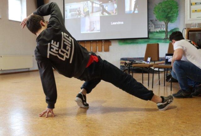 So sieht derzeit das Online-Training der Breakdancer der Frankenberger Broken Beat Crew aus.