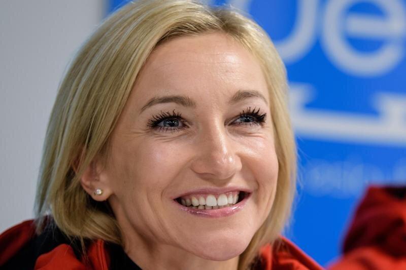 Eiskunstläuferin Aljona Savchenko hat ihr erstes Kind bekommen.