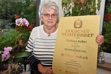 Barbara Kellert wurde mit dem Goldenen Meisterbrief geehrt.