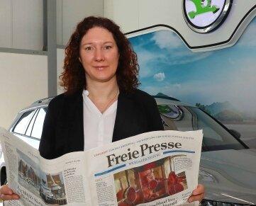 """Ivonne Radeke (45), Geschäftsführerin des Autohauses """"Am Pleißental""""."""