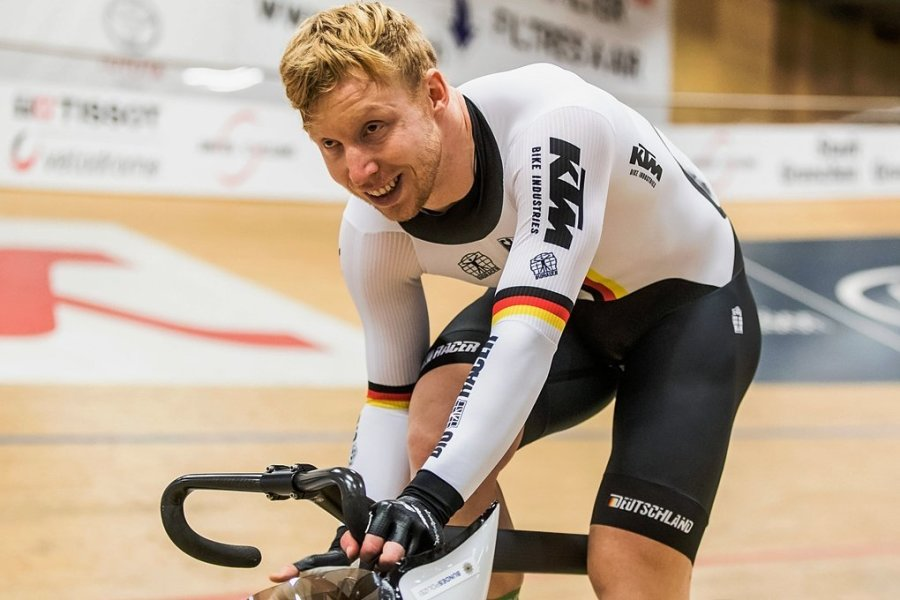 Der Chemnitzer Joachim Eilers fuhr im Keirinfinale als Dritter über den Zielstrich.