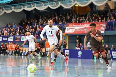 Die Deutsche Meisterschaft 2019 in Hohenstein-Ernstthal (Foto aus der Partie des VfL gegen St. Pauli) bot einen Vorgeschmack auf das, was es künftig auch in der Futsal-Bundesliga regelmäßig geben soll. Tolle Spiele und - wenn es die Pandemie-Situation wieder zulässt - viele Fans.