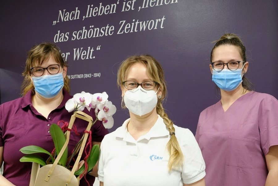 Das Team der Praxis: Schwester Heidi Herting, Hautärztin Marleen Gottert und Schwester Claudia Weiß (im Bild von links).