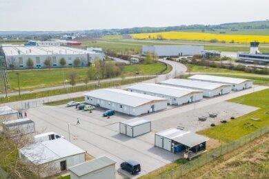 Das Containerdorf im Jahnsdorfer Ortsteil Pfaffenhain. Derzeit leben hier laut Bürgermeister Albrecht Spindler 79 Menschen.