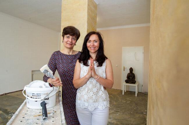 Vereinschefin Nadja Grigorenko (links im Bild) mit Alena Sanders