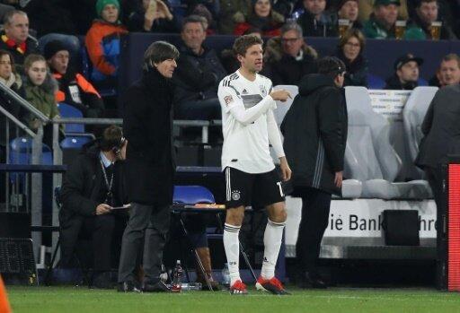 Müller wird zu seinem 100. Länderspiel eingewechselt