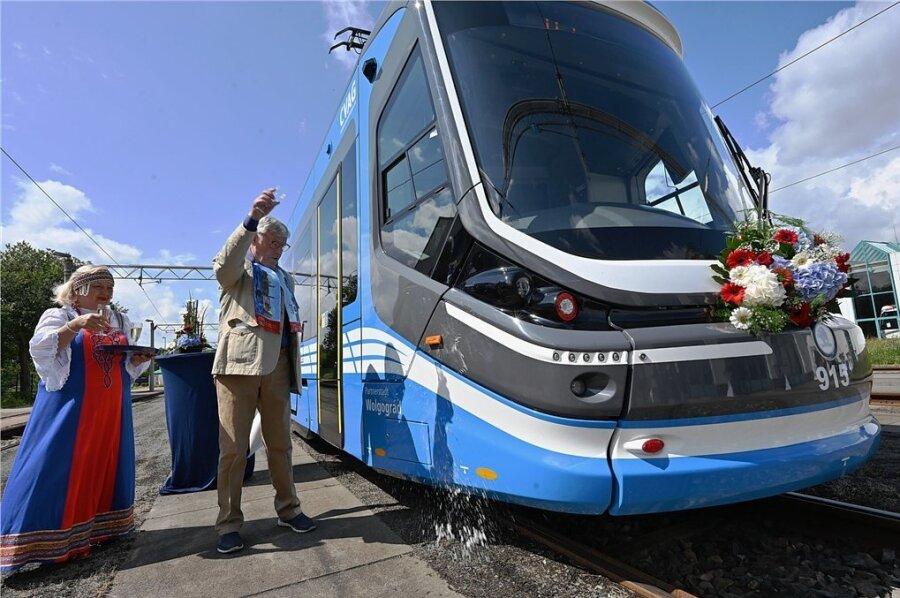 Warum diese Chemnitzer Straßenbahn jetzt Wolgograd heißt