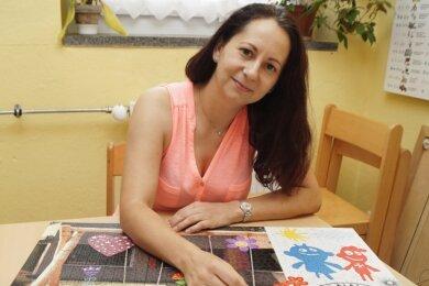 Laura Seidel kann regelmäßig Puzzleteile hinzufügen.