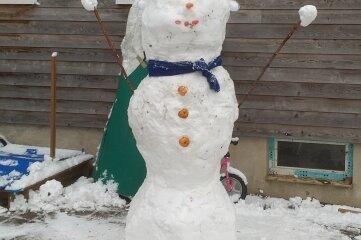 Den schönen Namen Serafina trägt diese Schneefrau.