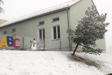 Die Turnhalle der Grundschule Hilbersdorf wartet auf eine Sanierung.