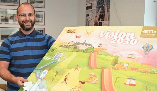 Innenstadtmanager Stefan Herold ist stolz, dass es Stollberg geschafft hat, nun zum internationalen Netzwerk Cittaslow zu gehören.