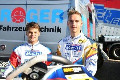 Niels Tröger (links) und sein Cousin Tim Tröger kehrten mit unterschiedlichen Gefühlen aus Mülsen ins Vogtland zurück.