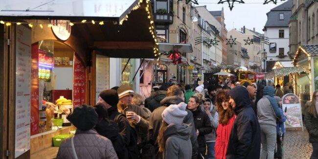 Dichtes Gedränge wie im Jahr 2018 in Reichenbach ist dieses Jahr auf Weihnachtsmärkten der Region nicht angesagt.