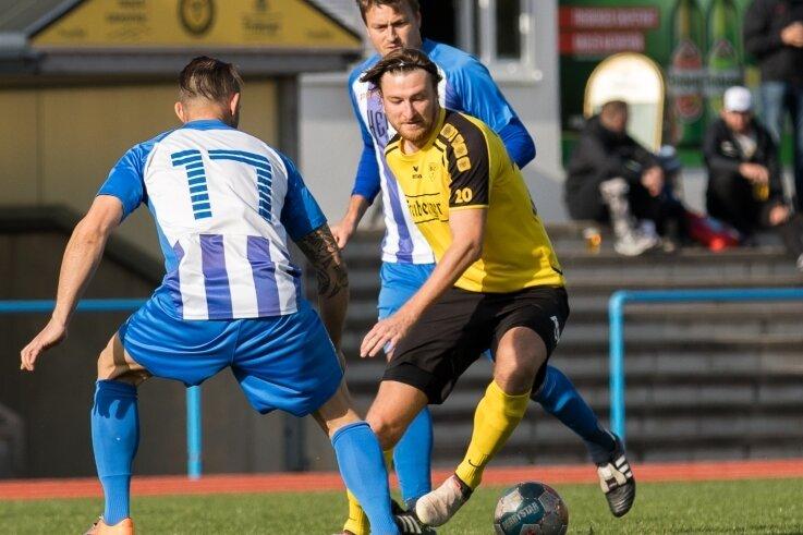 Nicht zu stoppen: Tommy Gommlich erzielte beim 5:2 des BSC gegen den SV Chemie Dohna alle fünf Freiberger Treffer und hat nun zwölf Saisontore zu Buche stehen.