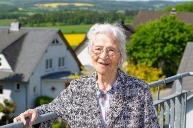 Gerda Tschinkl ist die älteste Plauenerin. Am Samstag wird sie 105 Jahre alt.