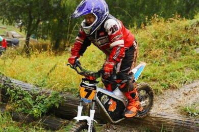 Der sechsjährige Constantin-David Jokiel aus Thum belegte am zweiten Tag den dritten Platz der Kinder-Kategorie.