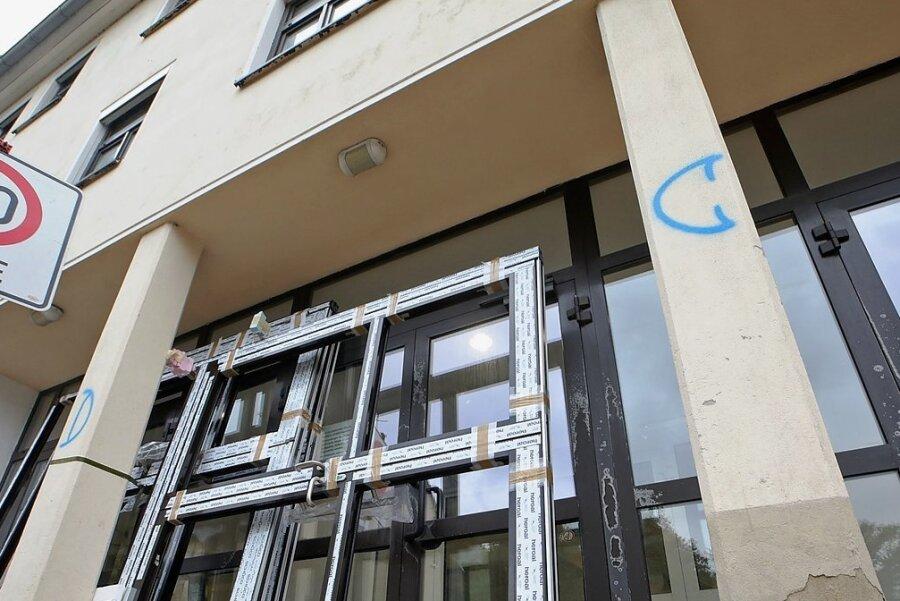 Das Gebäude des alten Arbeitsamtes an der Hoffnung wird derzeit für die kleinteilige Vermietung vorbereitet.