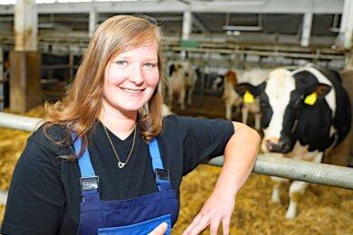 Der Arbeitsplatz von Linda Nagies befindet sich in der Milchviehanlahe in Lauterbach.