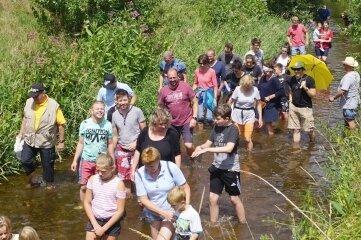 Um die 40 Teilnehmer waren vor zwei Jahren beim Pleißelauf am Start.