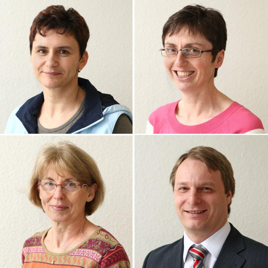 Die Experten: oben: Dr. Diana Demmler und Hautärztin Annett Hirsch; unten: Dr. Annelies Becker und Dr. Thomas Christoph