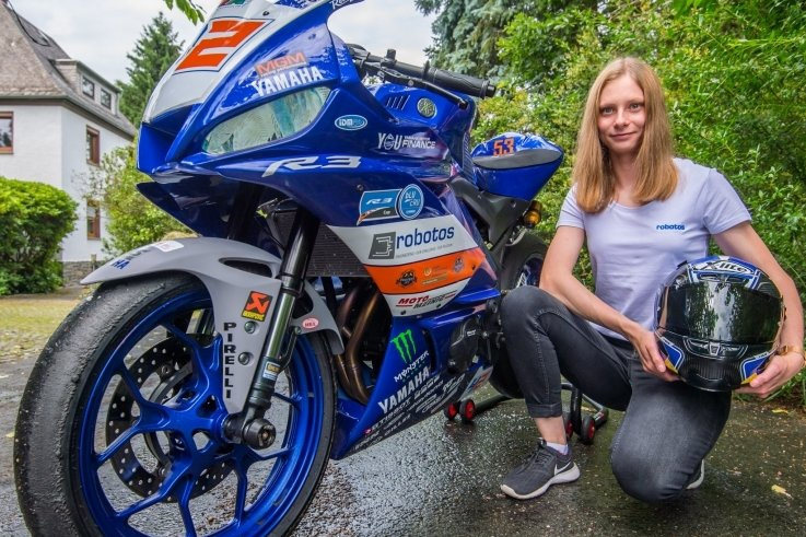 Linn Vogel und Sarah Göpfert aus Neukirchen haben mit ihren Rennmotorrädern noch viel vor.